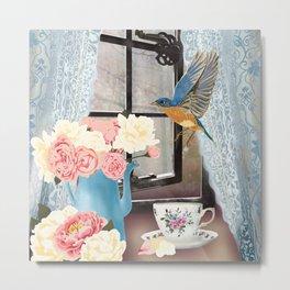 Country Bluebird Metal Print