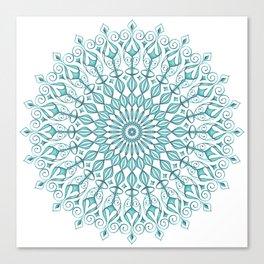 Aqua mandala Canvas Print