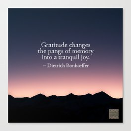 Gratitude and tranquil joy Canvas Print