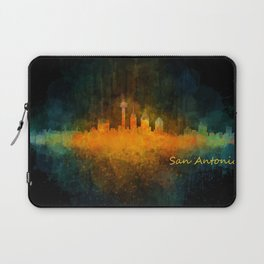 San Antonio City Skyline Hq v4 Laptop Sleeve