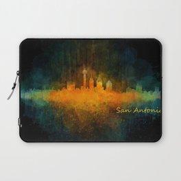 San Antonio City Skyline Hq v4 Laptop Sleeve