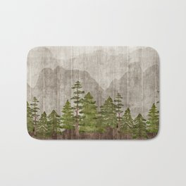 Mountain Range Woodland Forest Bath Mat