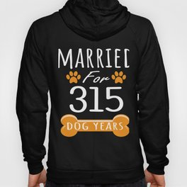 45th Anniversary Funny Married For 315 Dog Years Marriage graphic Hoody