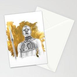 Okoye Warrior Woman #Blackpanther #wakanda Stationery Cards