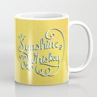 whiskey Mugs featuring Sunshine & Whiskey by Abby A