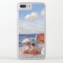 At the Seaside, William Merritt Chase 1892 Clear iPhone Case