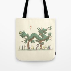 The Night Gardener - Dragon Topiary  Tote Bag
