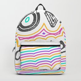 Flat Love Yourself Lettering Typography Style shir Backpack