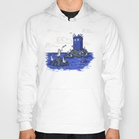 hallion Hoodies featuring The Seagulls have the Phonebox by Karen Hallion Illustrations