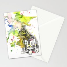 C3PO and R2D2 from Star Wars Stationery Cards