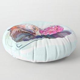 Otter Donut Floor Pillow