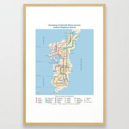 Azeroth - Eastern Kingdoms Routemap Framed Art Print