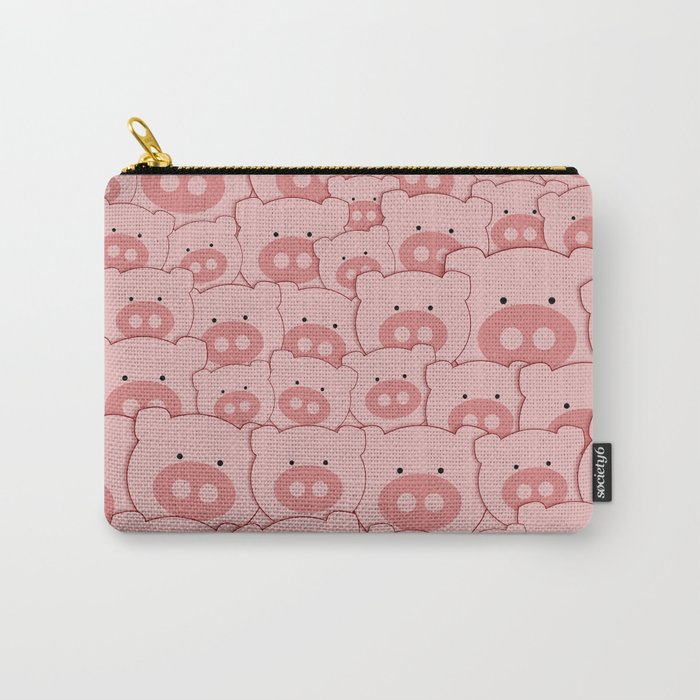 Pink Piggy Pigs Carry-All Pouch