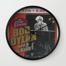 Vintage Bob Dylan Santa Barbara, California Concert Poster Limited Edition Originally 1 of 200 Wall Clock
