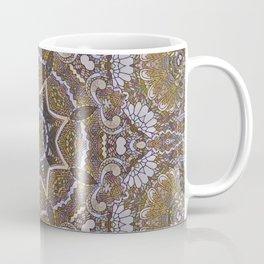 Pastel Gold Stained Glass Mandala Coffee Mug