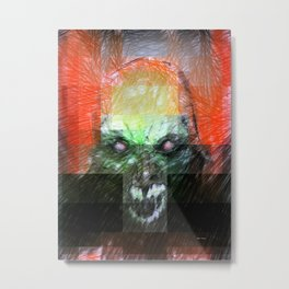 Halloween Mask Metal Print