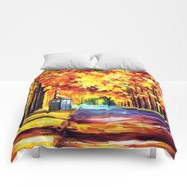 Tardis Stay Alone Comforters