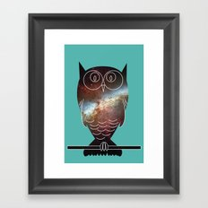 Space Owl Framed Art Print