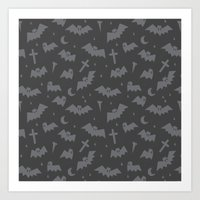 bats Art Prints featuring Bats by Sil Elorduy
