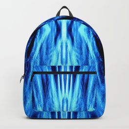 Electric Blue Abstract Backpack