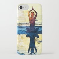 yoga iPhone & iPod Cases featuring yoga by Chantale Roger