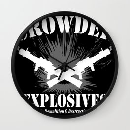 Crowder Explosives Wall Clock