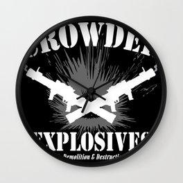 Crowder Explosives Wall Clock