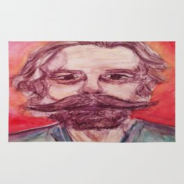 Bob Weir Watercolor Portrait Grateful Dead Rug