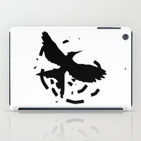 mockingjay iPad Cases featuring MockingJay Revolution  by Lauren Lee Design's