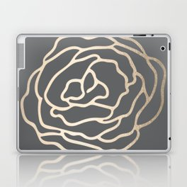 Rose White Gold Sands on Storm Gray Laptop & iPad Skin