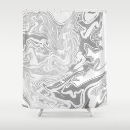 Gray Marble paper Shower Curtain