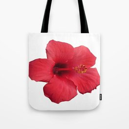 Stunning Red Hibiscus Flower Tote Bag