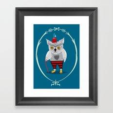 Olaf The Old Grey Owl Framed Art Print