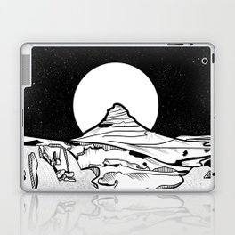 Iceland Mountain Black and white Laptop & iPad Skin