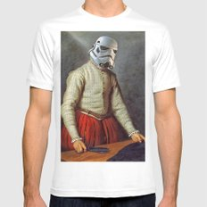 Tailor trooper White MEDIUM Mens Fitted Tee