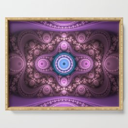 """Le Grand Julian"" Fractal Flame Variant Art Serving Tray"