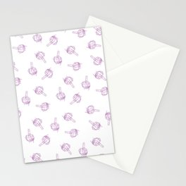 Middle Finger Pattern Stationery Cards