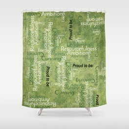 "Proud to be ""S"" Shower Curtain"