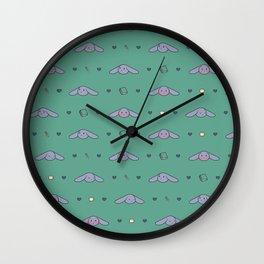 Pepper Bunny Pattern Wall Clock