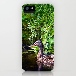duck reflections iPhone Case