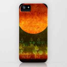 """Green Lemon & Golden Night Dream"" iPhone Case"