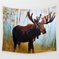 moose Wall Tapestries featuring Moose by Vicki Lynn Rae