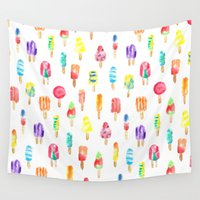 popsicle Wall Tapestries featuring Popsicle by Golden Girl Art