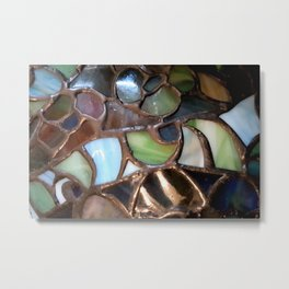 Stained Glass Enamel Metal Print