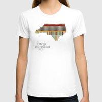 north carolina T-shirts featuring North Carolina state map by bri.buckley
