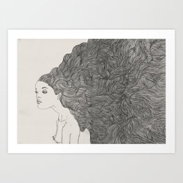 Obession with hair Art Print