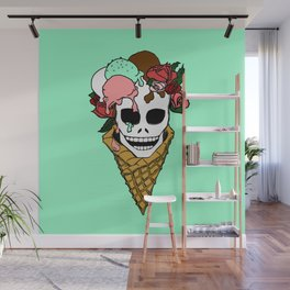 Hella Mint Wall Mural