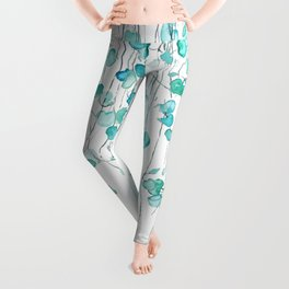 string of hearts watercolor Leggings