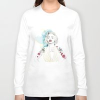 marylin monroe Long Sleeve T-shirts featuring Marylin Monroe  by sarah rie