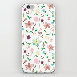 Tropical pastel themed pattern iPhone Skin